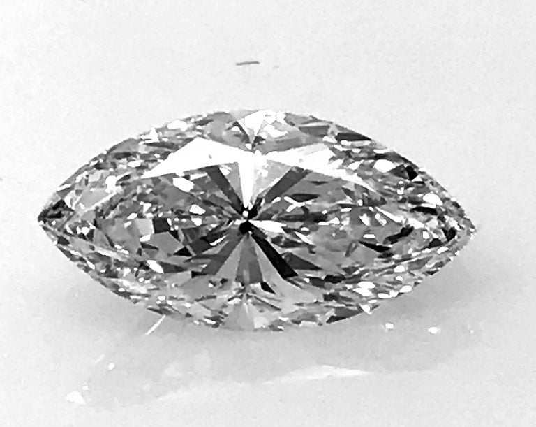 Marquis Diamond 2.01 Carat VS-1, D GIA, Rare 2