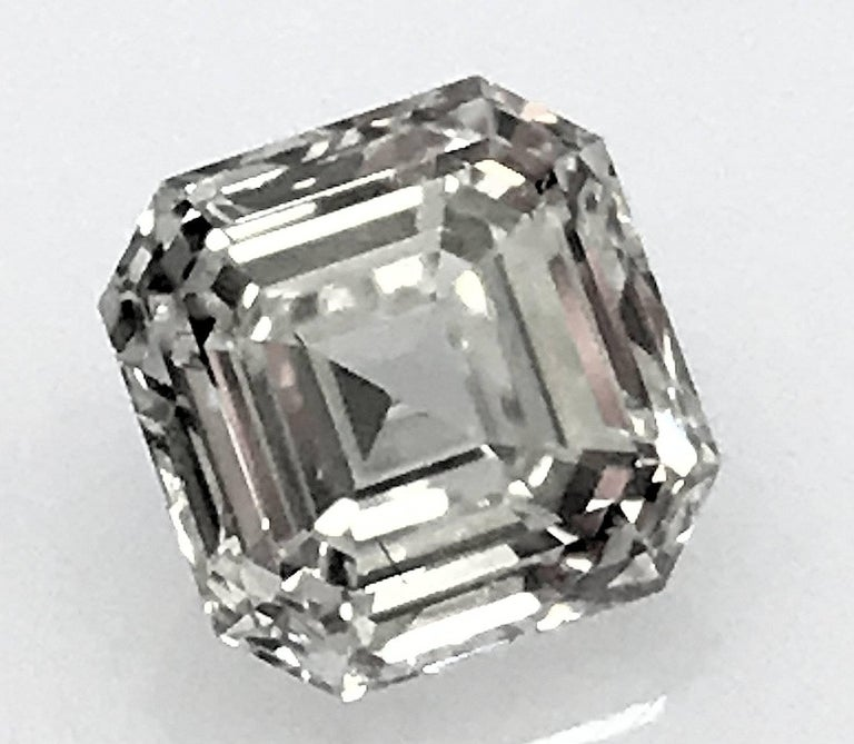 Square Emerald Cut Asscher Diamond 1.02 Carat GIA VVS-1, G 2
