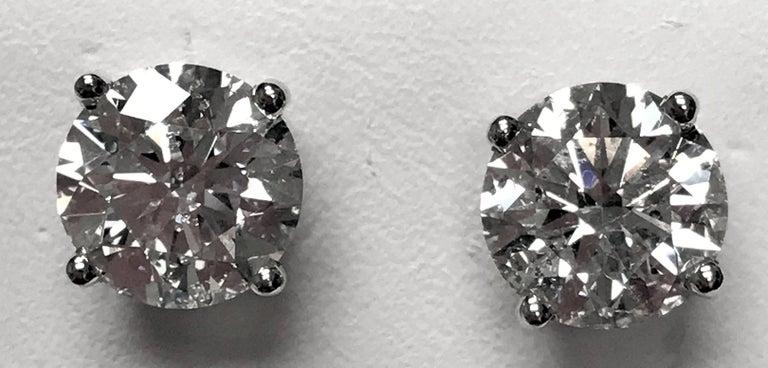4.60 Carat Total Weight Diamond Ear Studs 2