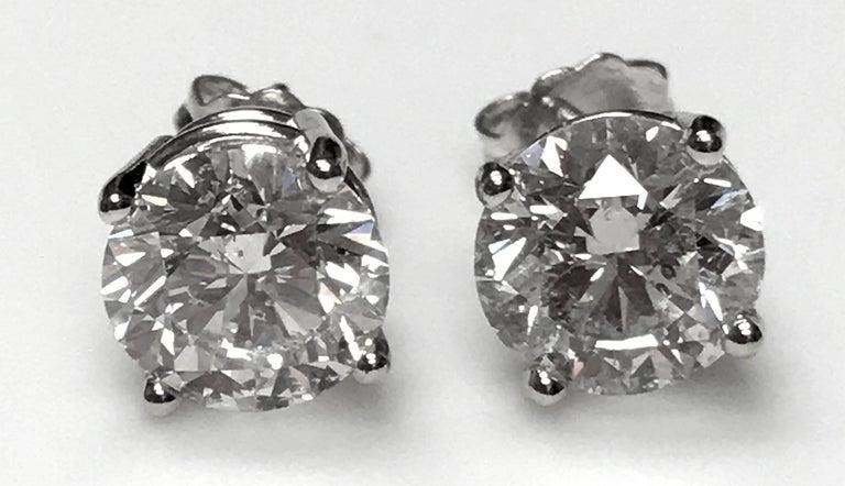 4.60 Carat Total Weight Diamond Ear Studs 3