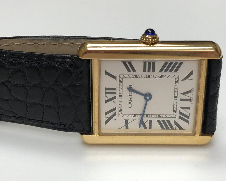 Cartier Stainless Steel Tank solo 2742 Quartz Wristwatch  2