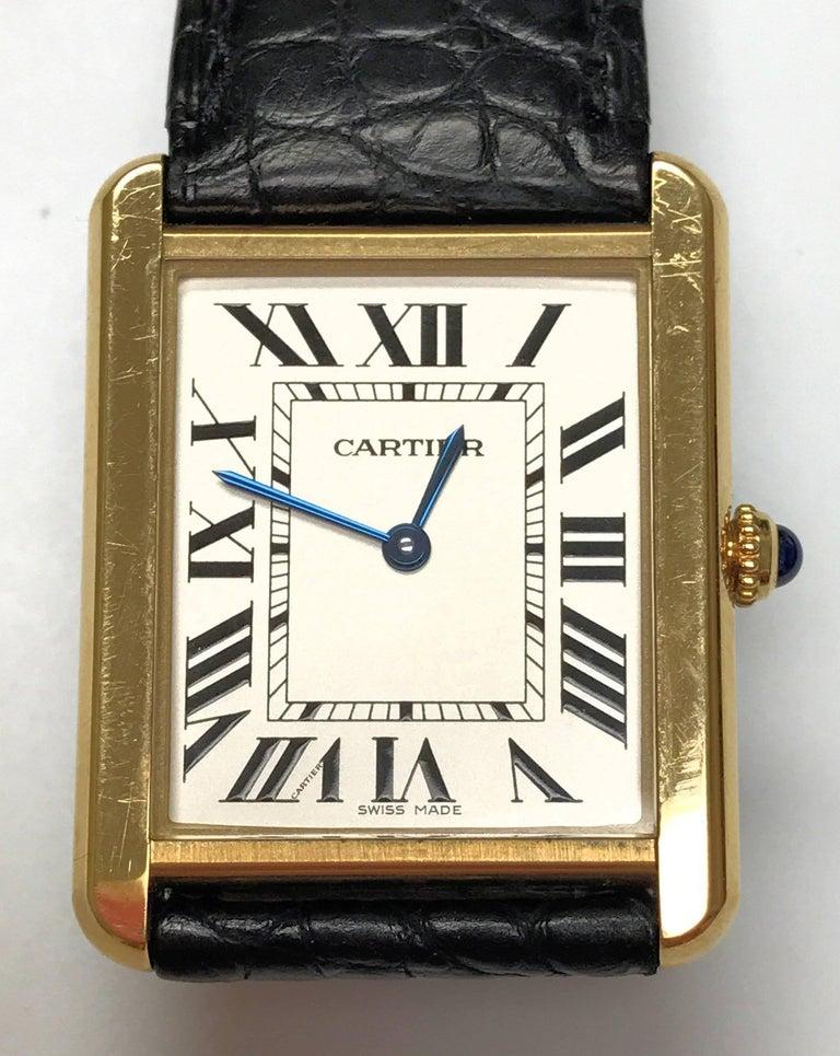 Cartier Stainless Steel Tank solo 2742 Quartz Wristwatch  3