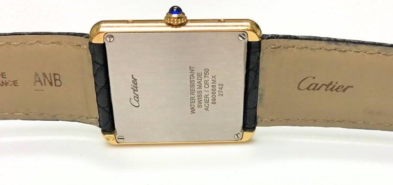 Cartier Stainless Steel Tank solo 2742 Quartz Wristwatch  4