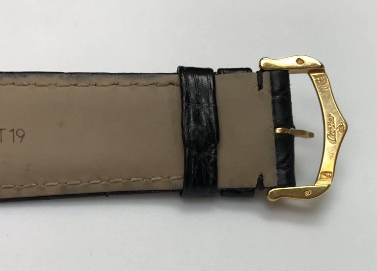 Cartier Stainless Steel Tank solo 2742 Quartz Wristwatch  6