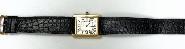 Cartier Stainless Steel Tank solo 2742 Quartz Wristwatch  7