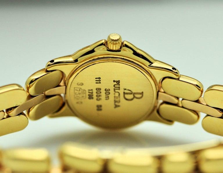 Women's Bertolucci Ladies Yellow and Rose Gold Diamond Black Dial Wristwatch  For Sale