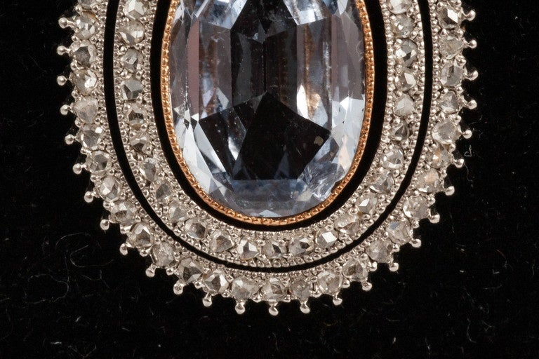 Edwardian Natural Sapphire diamond pendant In Excellent Condition For Sale In London, GB