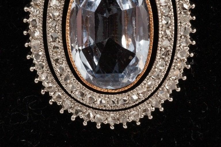 Edwardian Natural Sapphire diamond pendant 3