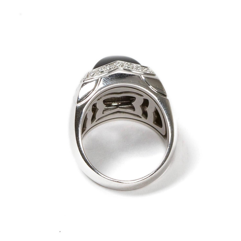 pyramid onyx white gold ring at 1stdibs