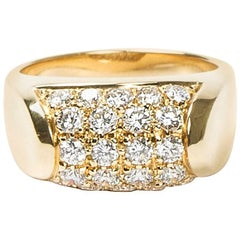 Bulgari Tronchetto Pave Diamonds Yellow Gold Ring