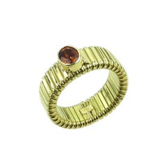 Flexible Handmade Brazilian Citrine 18kt Gold Ring