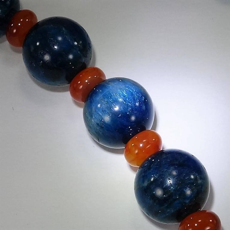Gemjunky Glowing Apatite and Carnelian Necklace For Sale 2