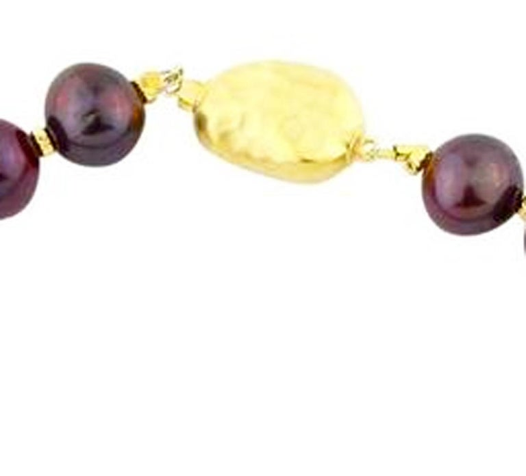 Chocolaty Wine-colored Pearl Necklace For Sale 1