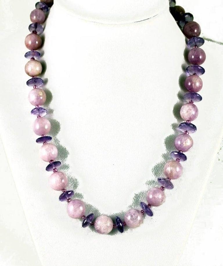 Women's Unique Amethysts and Kunzites Necklace For Sale
