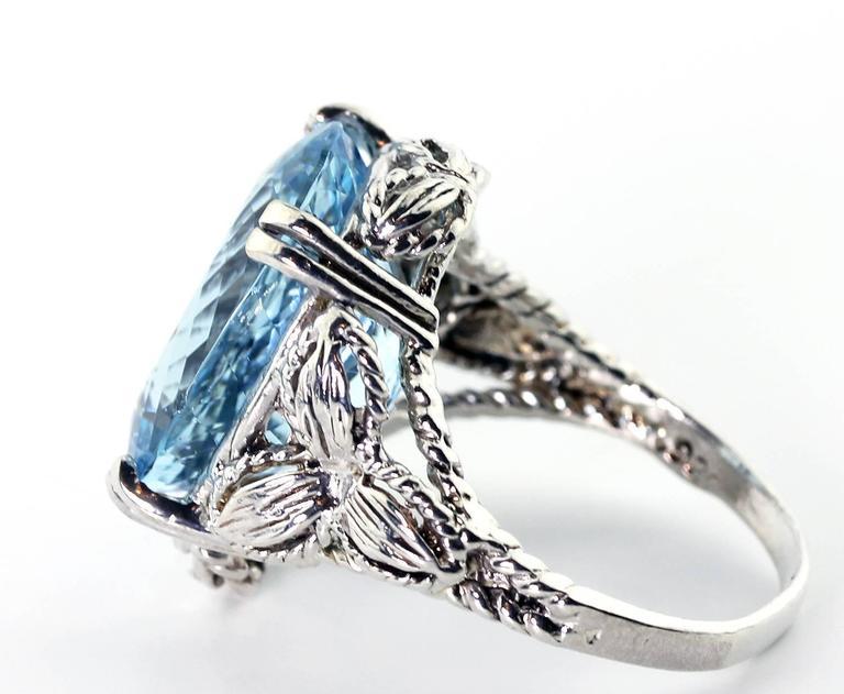 Perfect Blue Aquamarine Ring 3