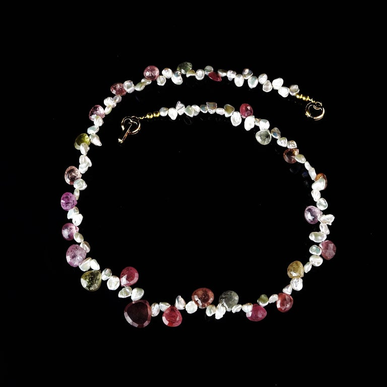 Choker of Multi-Color Natural Sapphire Biolettes and Freshwater Pearls For Sale 1