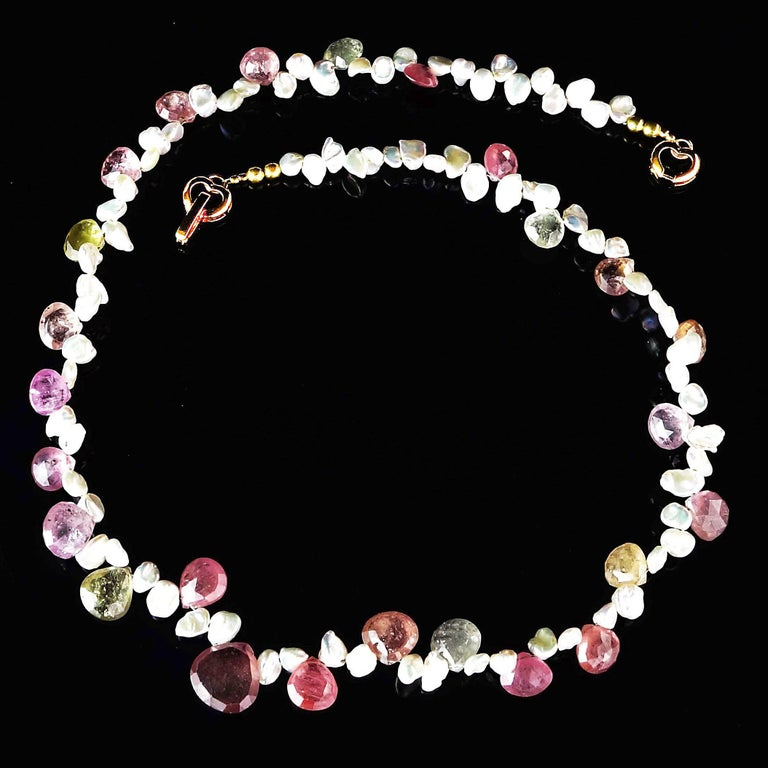 Choker of Multi-Color Natural Sapphire Biolettes and Freshwater Pearls For Sale 3