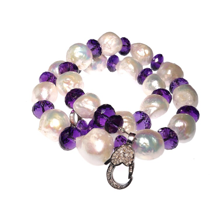 Baroque Pearl and Amethyst Necklace