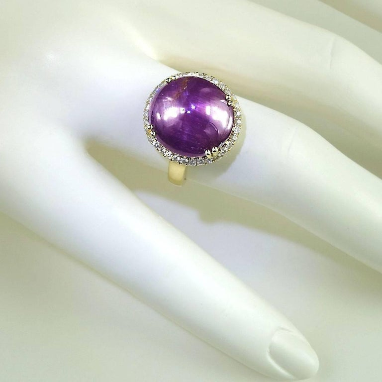 Statement Star Ruby and Diamond Cocktail Ring For Sale 2