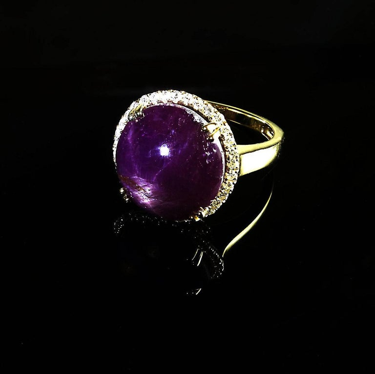 Statement Star Ruby and Diamond Cocktail Ring For Sale 3