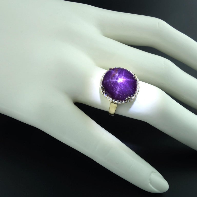 Statement Star Ruby and Diamond Cocktail Ring For Sale 4