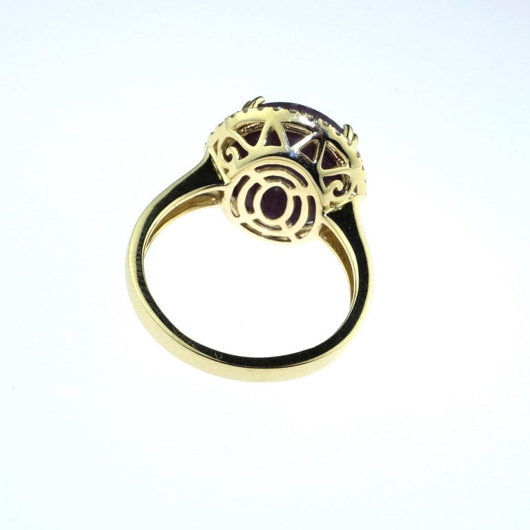 Statement Star Ruby and Diamond Cocktail Ring For Sale 5