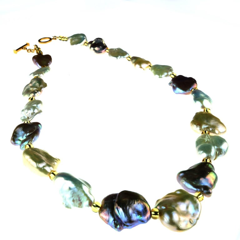 Baroque Multi-Toned Pearl Necklace