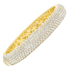 Diamond and Gold Bangle Bracelet