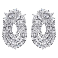 Large Diamond Bow Earrings