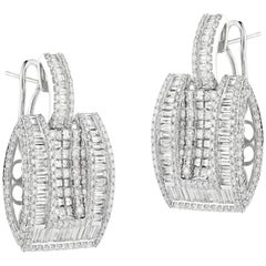 Elegant White Gold Diamond Earrings