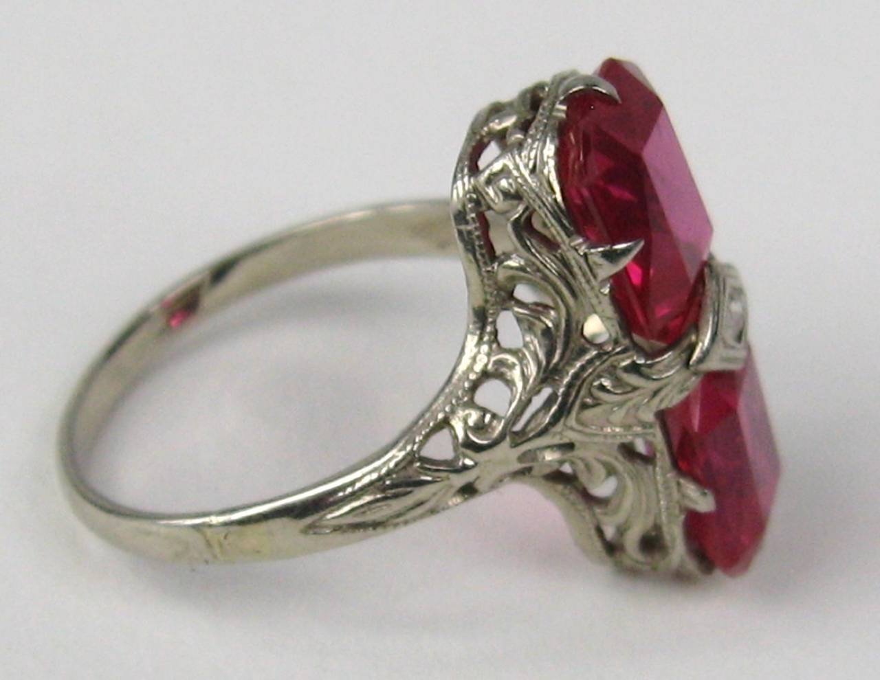 1920s white gold filigree ring for sale at 1stdibs
