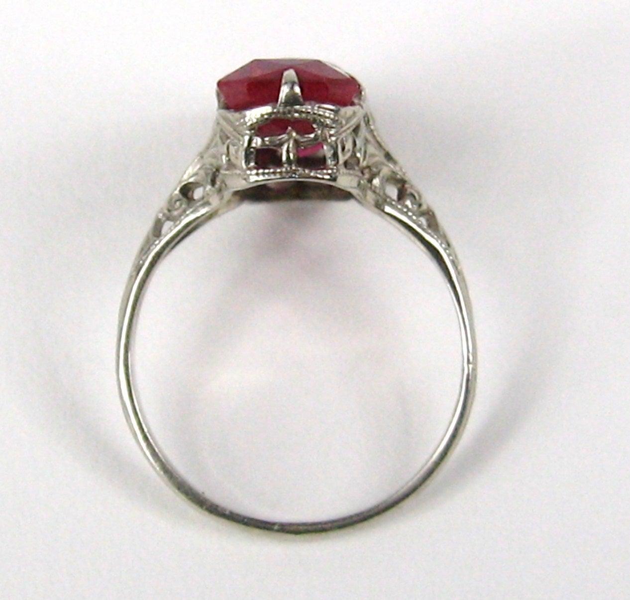 1920s white gold filigree ring at 1stdibs