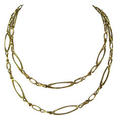 36 Inch Heavy Gold Brutalist Link Chain