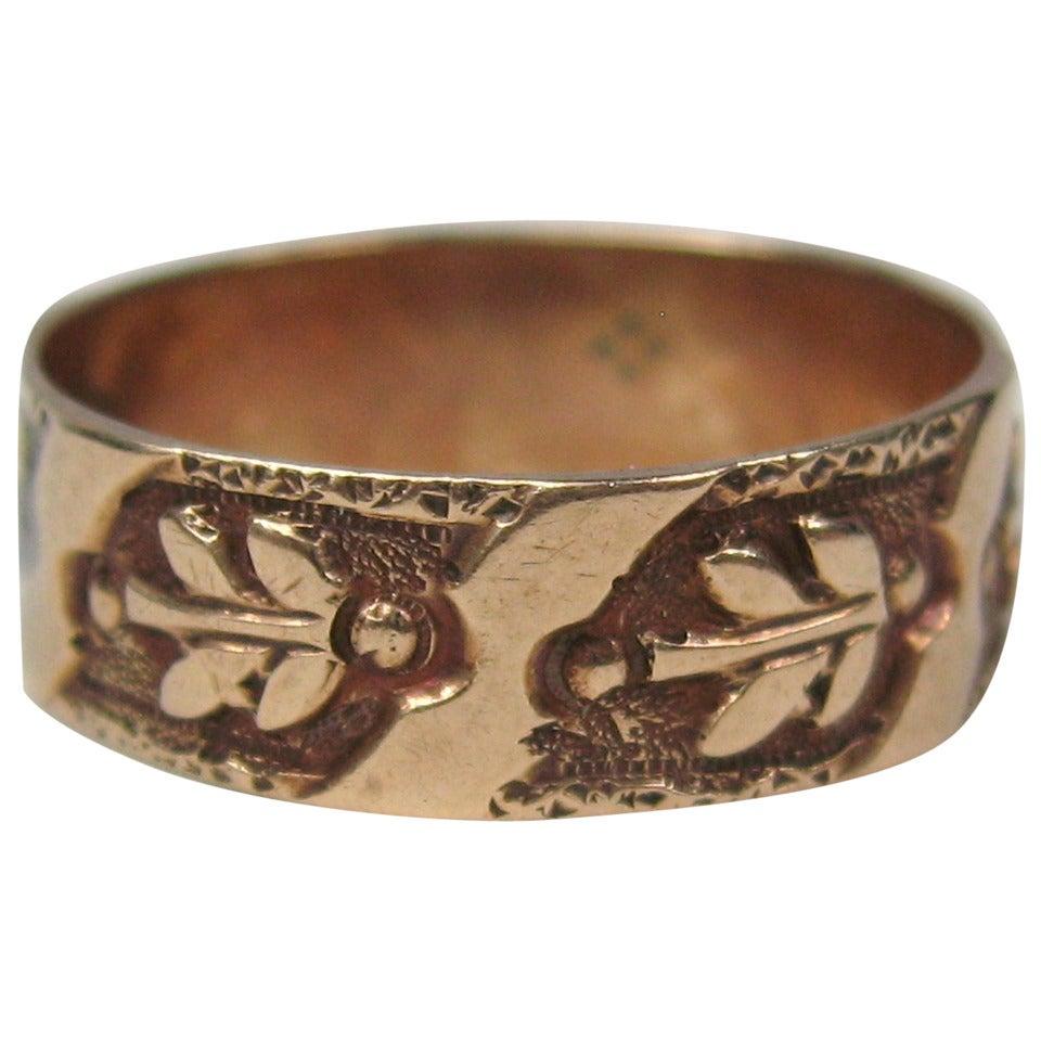early 1880s gold cigar wedding band ring at 1stdibs