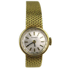 Tissot Lady's Yellow Gold Wristwatch