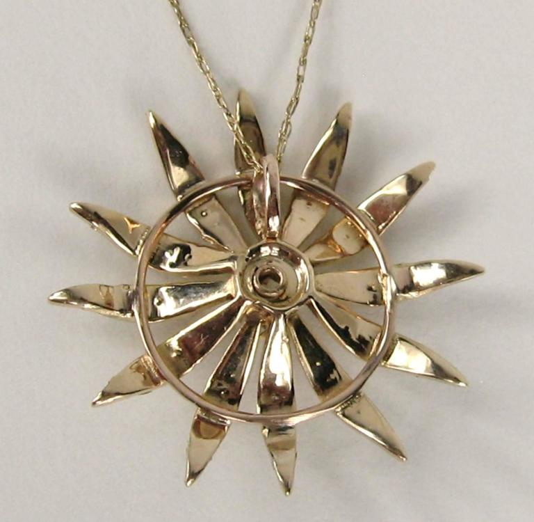Victorian Antique Sunburst Seed Pearl Opal Gold Lavalier Necklace For Sale
