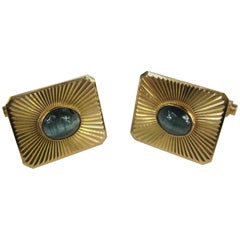 Antique star sapphire cufflinks circa 1900 for sale at 1stdibs 1950s blue star sapphire gold cufflinks sciox Image collections