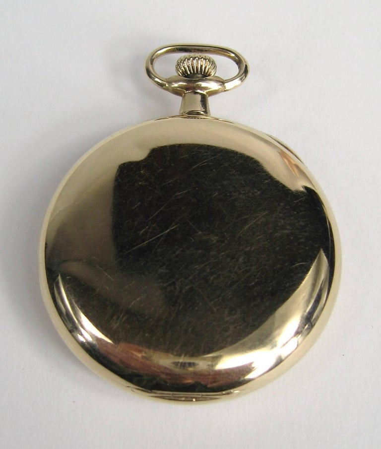 Hamilton Yellow Gold Open Face Antique Pocket Watch, circa 1919 In Good Condition For Sale In Wallkill, NY