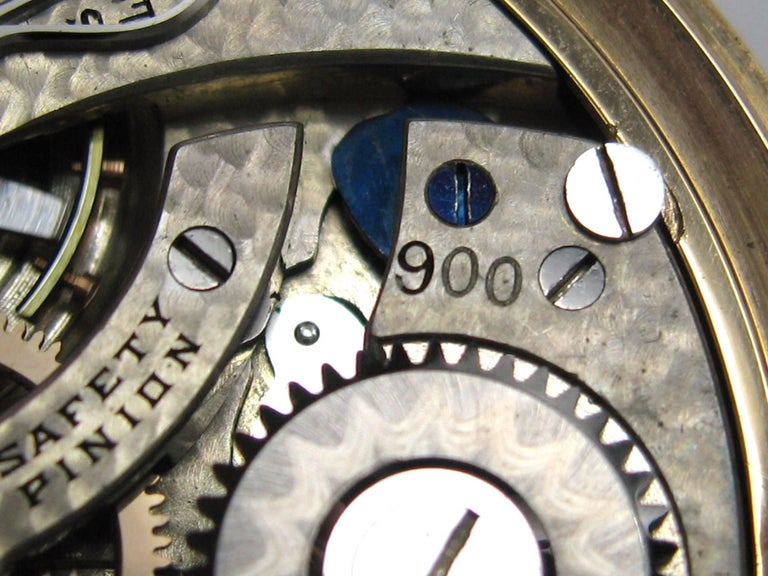 Hamilton Yellow Gold Open Face Antique Pocket Watch, circa 1919 For Sale 1