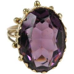 19th Century Claw Set Amethyst Gold Ring
