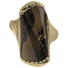 1960s Modernist Topaz 14 Karat Gold Ring