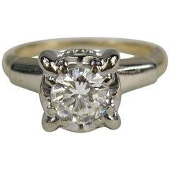 Antique 14 Karat Gold Diamond Engagement Ring