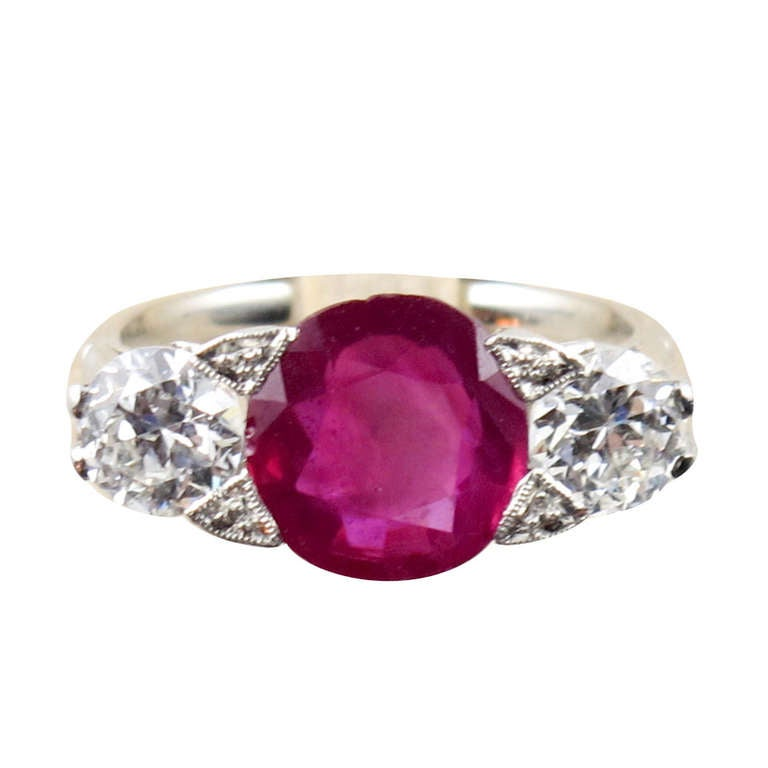 Burmese Ruby Ring At 1stdibs