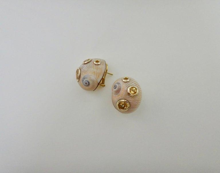 Michael Kneebone Golden Topaz 18 Karat Gold Natural S Earrings For 2
