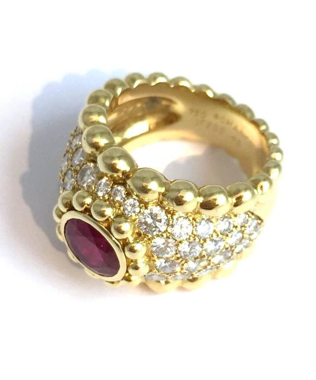 Chanel Ruby Diamond Gold Ring  2