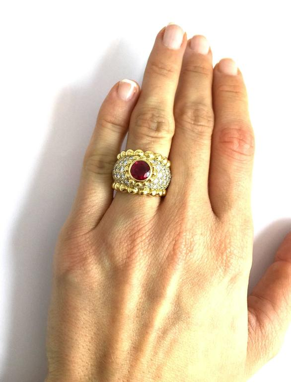Chanel Ruby Diamond Gold Ring  5