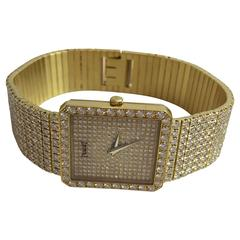 Piaget Yellow Gold Brilliant Set Quartz Wristwatch