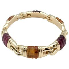 Colored Stone Yellow Gold Bulgari Bracelet