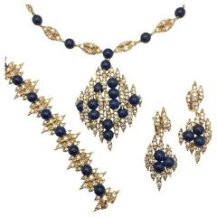1970s Mellerio Necklace Bracelet and Earrings Jewelry Set