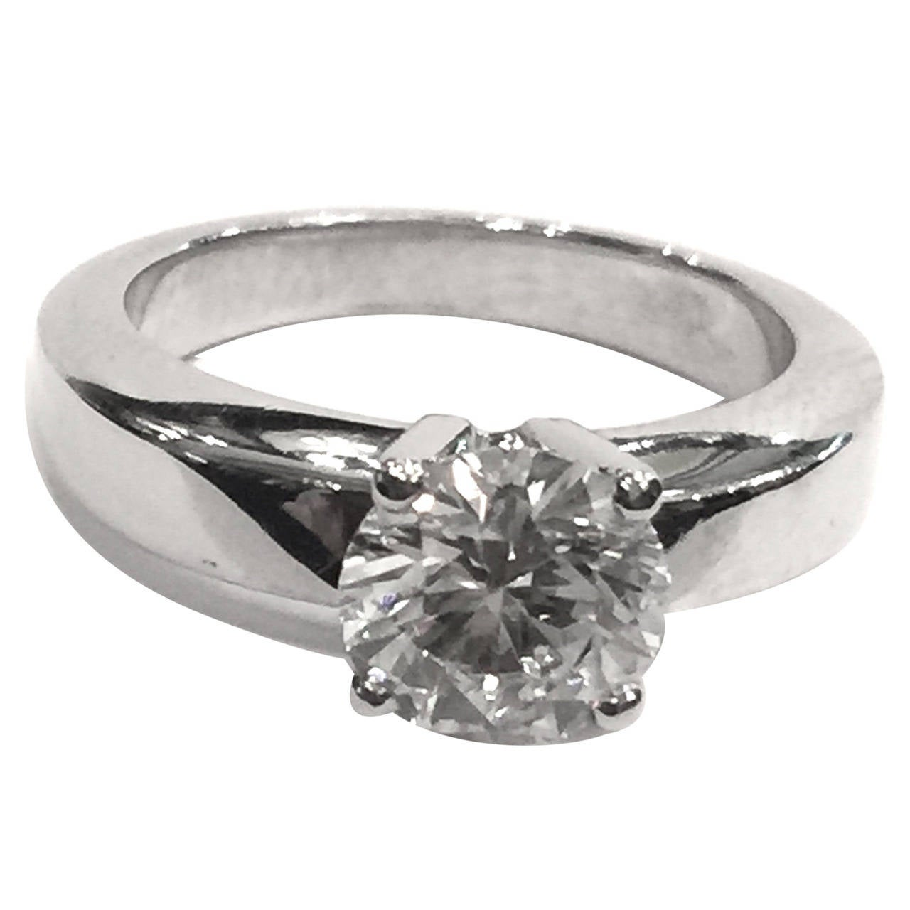 Cartier carat brilliant cut diamond platinum for 26 carat diamond ring